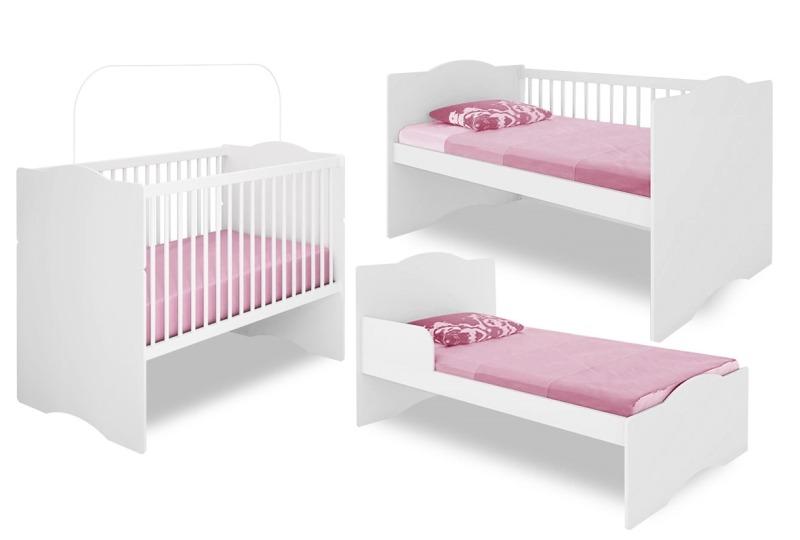 Ber o mini cama alegria mdf branco brilho certificado beb - Camas pequenas para bebes ...
