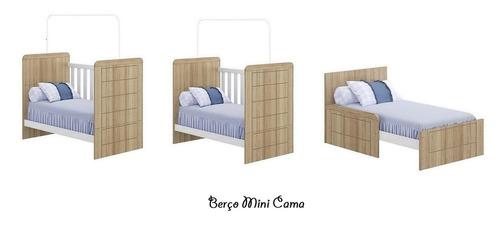 berço mini cama padrão americano mdf carvalho multimóveis
