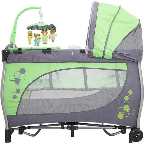 berço portátil balanço verde baby style