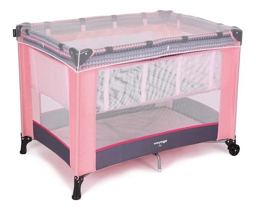 berço portatil fit - geo rosa  - voyage