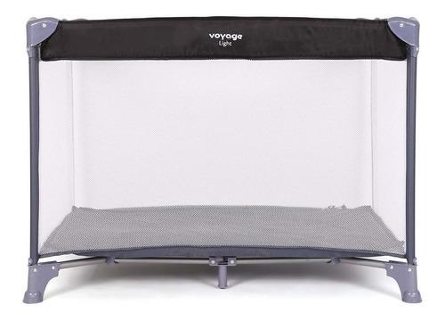 berço portátil light 0 à 15 kg - cinza - voyage