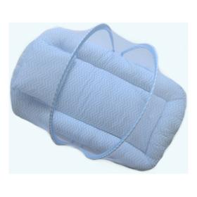 Berço Portátil Mosquiteiro Mini Cama Chevron Azul