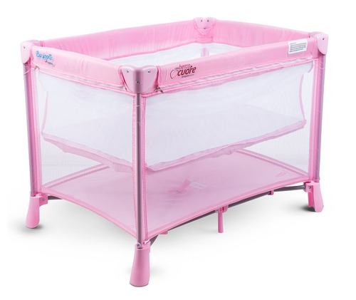 berço portátil new berço cuore - pink burigotto