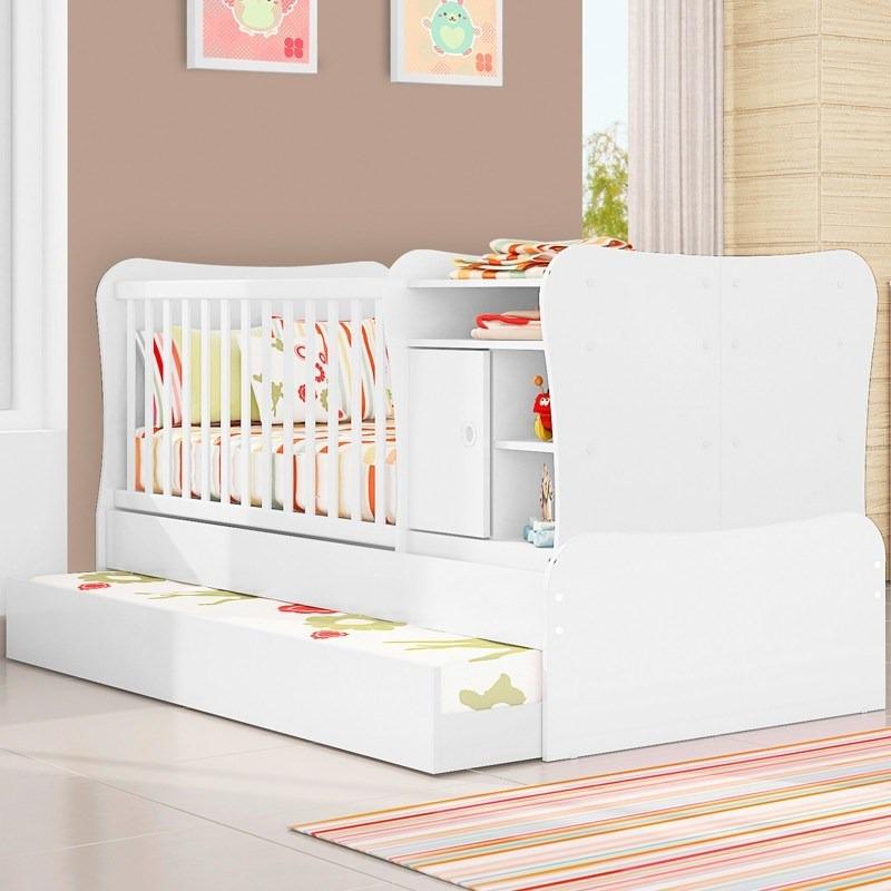 Ber o vira cama e criado c cama auxiliar doce magia qmovi for Sofa que vira beliche onde comprar