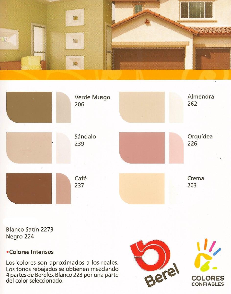 Berel berelex super satin pintura vinilica 19lt 1 779 for Color almendra pintura