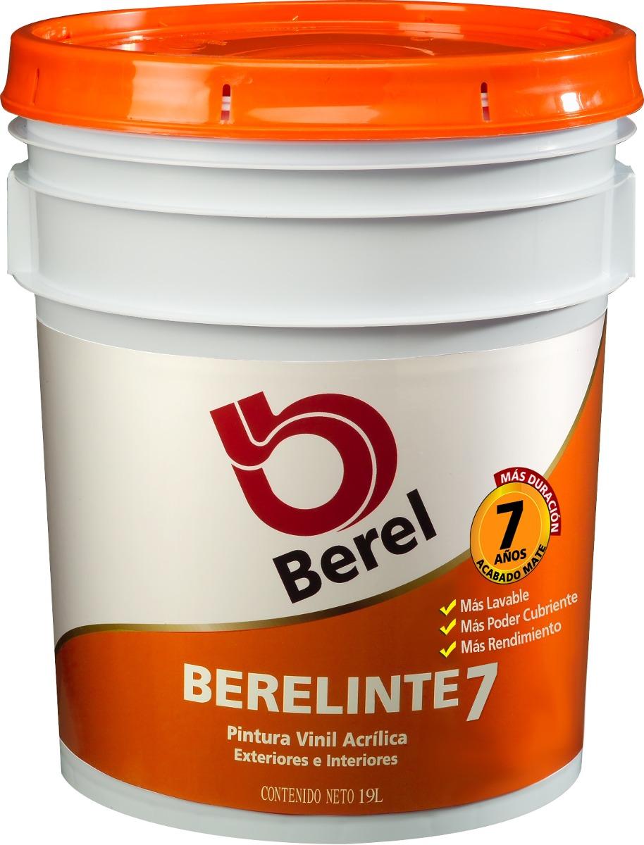 Berel berelinte 7 pintura vinilica 19lt 1 en - Pintura asfaltica precio ...