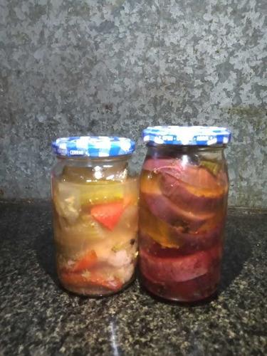 berenjena al escabeche y pickles