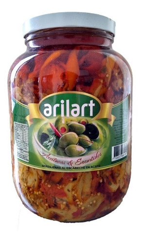 berenjenas al escabeche gourmet x 2kg - arilart