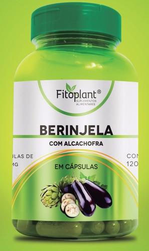 berinjela c/ alcachofra 120 cápsulas 500mg caixa 12 potes premiun original  fitoplant