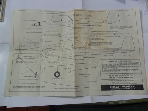 berkeley models avion plano 1954 fuselaje mc govern effinger