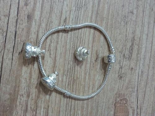 berloque bolo de noiva pulseiras pandora/vivaralife