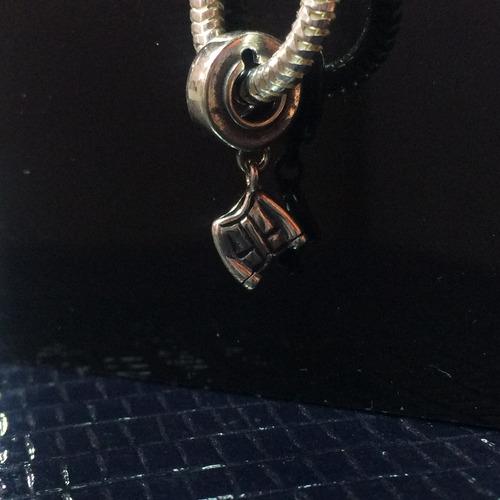berloque charms p/ pandora prata maciça 925 blusa
