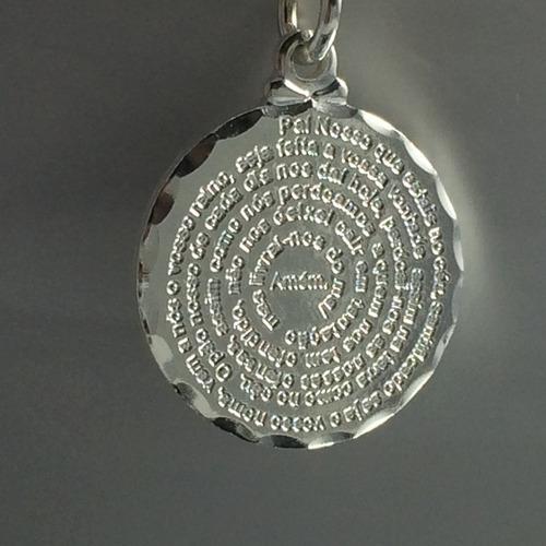 berloque charms p/ pandora prata maciça 925 pai nosso