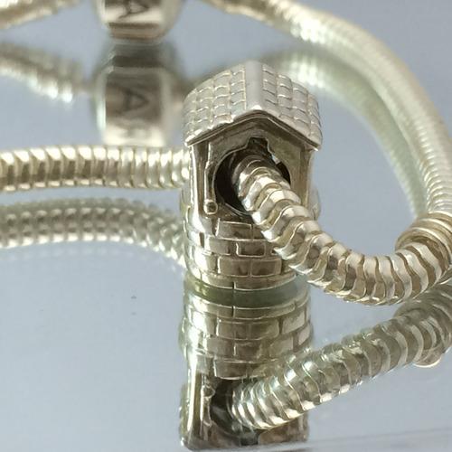 berloque charms para pulseira  prata maciça 925 poço