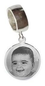 berloque prata 925 personalizado foto gravada bag12