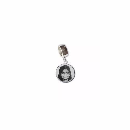 berloque prata 925 personalizado foto gravada fotogravação