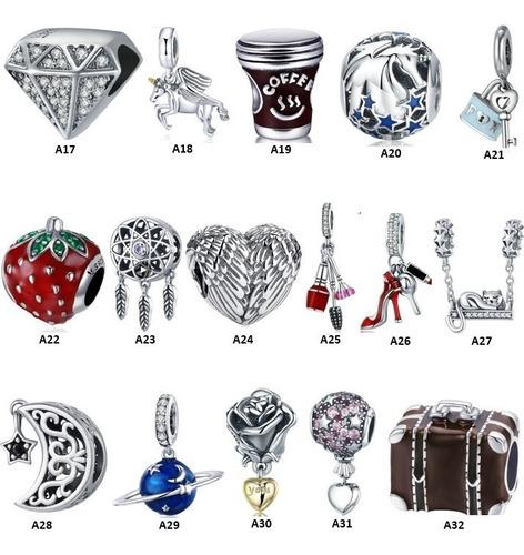 berloque prata925 verdadeira para pulseira pandora ou vivara