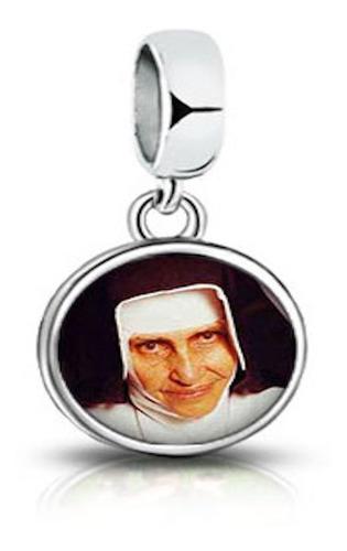 berloque redondo especial irmã dulce - prata 925
