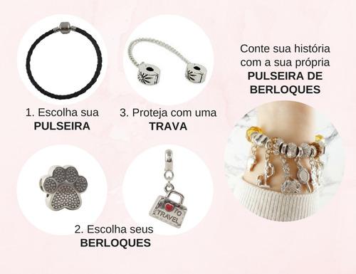 berloques charm dourados para pulseiras vivara e pandora