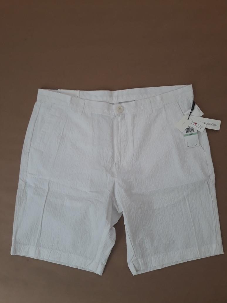 Bermuda 34 Slim Fit Calvin Blanca Klein 3AL5RS4jcq