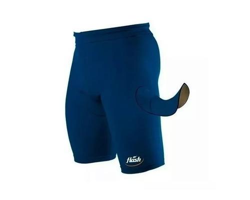 bermuda calza ciclista flash badana protectora foam spandez compresion