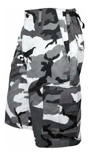 bermuda cargo camuflada urbano rip stop combate tactica