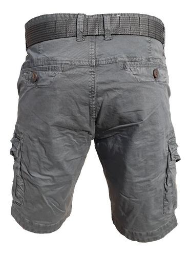 bermuda cargo hombre moda bolsillo algodon la mejor quilmes