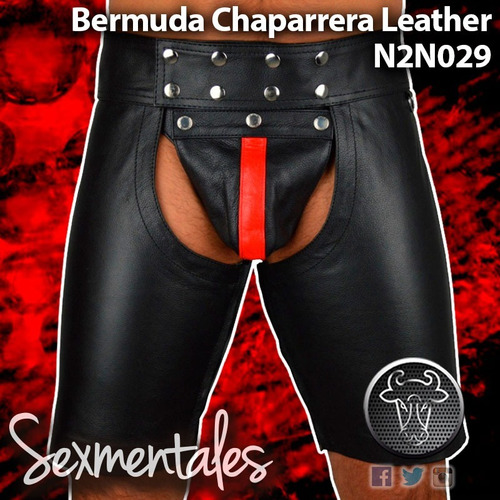 bermuda chaparrera imitacion piel n2n029 sexmentales