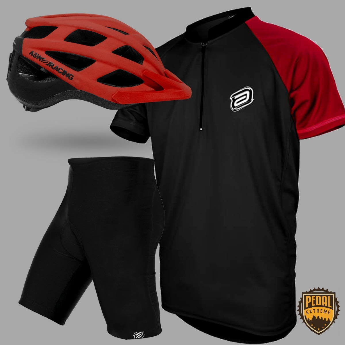 2dc3e315859b8 bermuda ciclismo + camisa + capacete black friday bicicleta. Carregando  zoom.