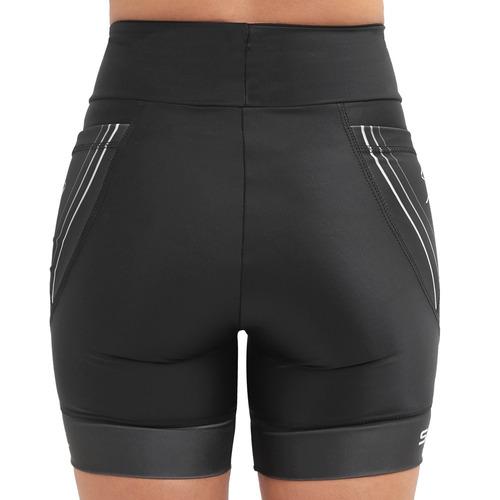 bermuda compressão corrida sprint race feminina com bolso