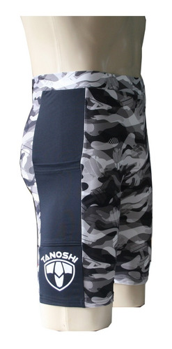 bermuda corrida run masc camuflado tanoshi com bolso lateral