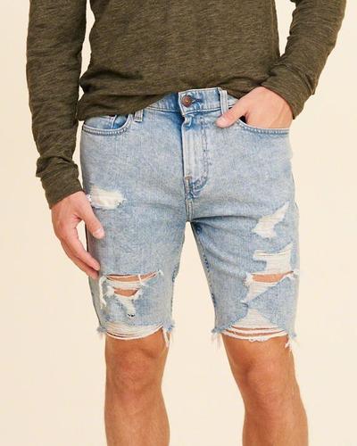 bermuda de jean hollister by abercrombie