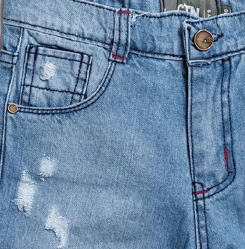 bermuda de jean para niño caricatoon