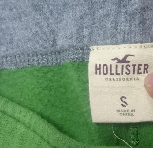 bermuda de moletom hollister verde nova original sweatpants