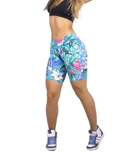 bermuda estampada fitness academia