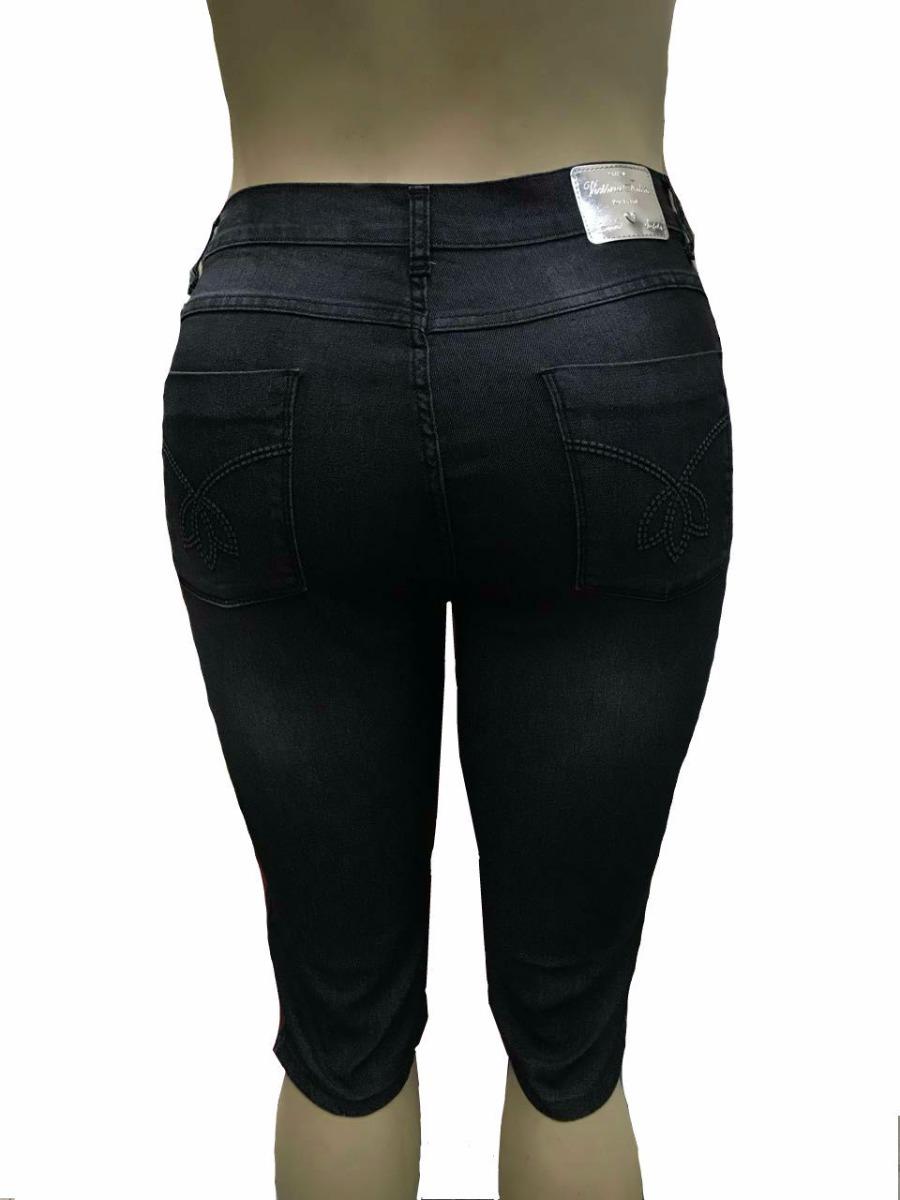 14742b9e04 bermuda feminina maria joão jeans plus size 44 ao 56 3024. Carregando zoom.