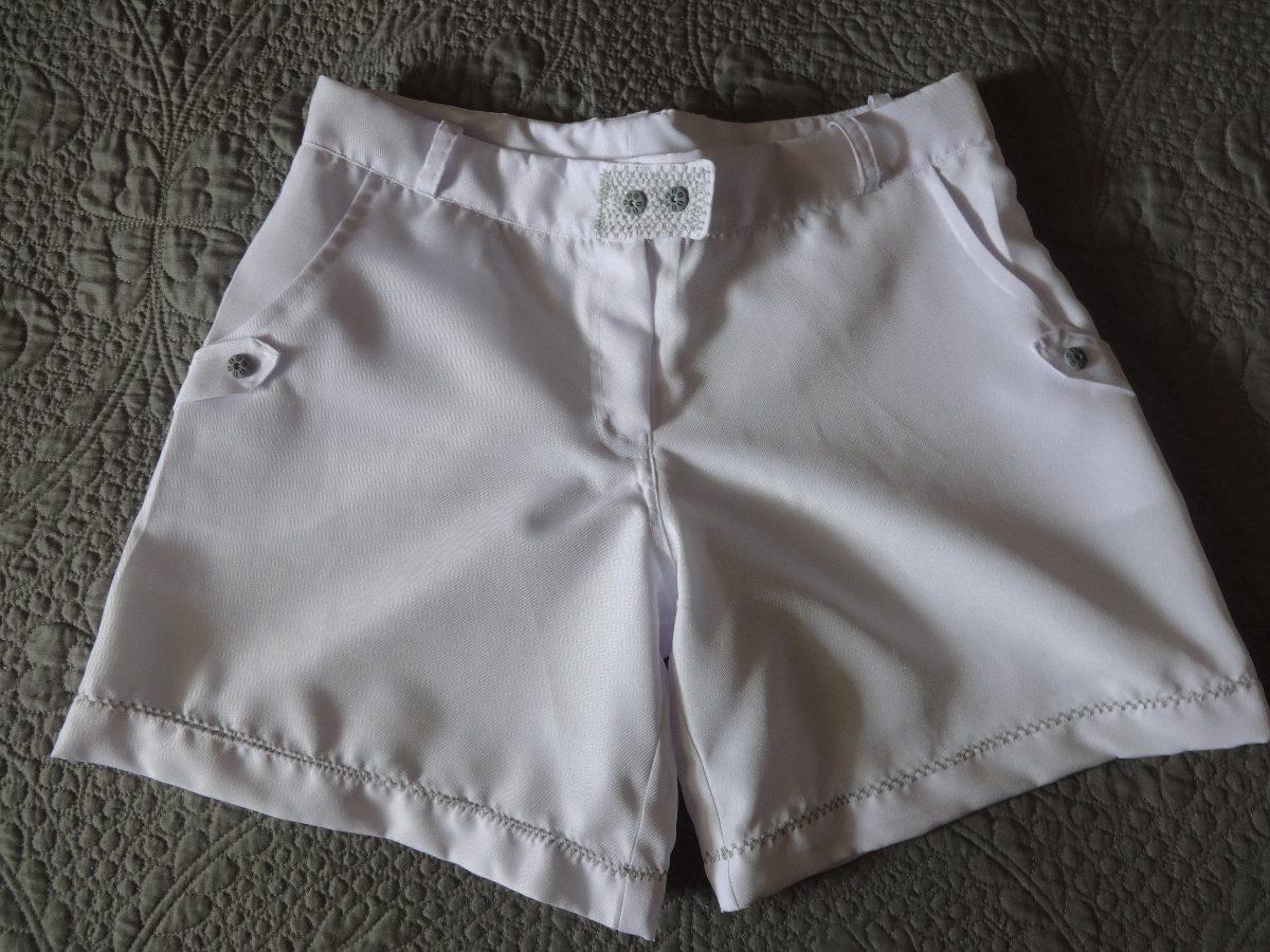 edd8e9e3230803 Bermuda Feminina Social Short Para Carnaval Branco