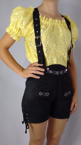 bermuda feminina típica germânica traje típico
