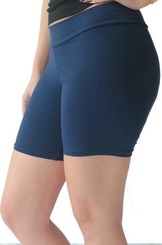 bermuda fitness feminina cotton adulto p/gg kit c 2 peças