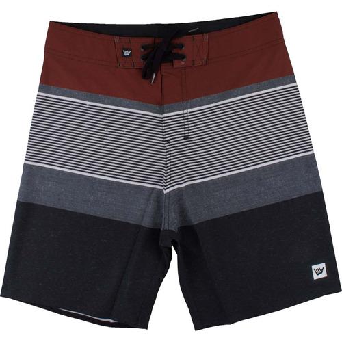 bermuda hang loose stripe - vermelho/preto