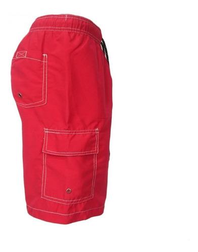 bermuda hang ten talla s color rojo
