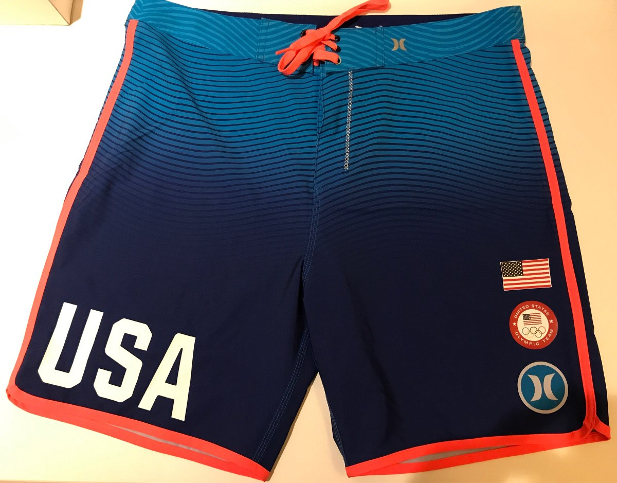 8832fd2765647 Bermuda Hurley Phantom Usa Team Tam 40 Br( 30usa) Azul - R  275
