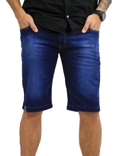 bermuda jeans azul masculina