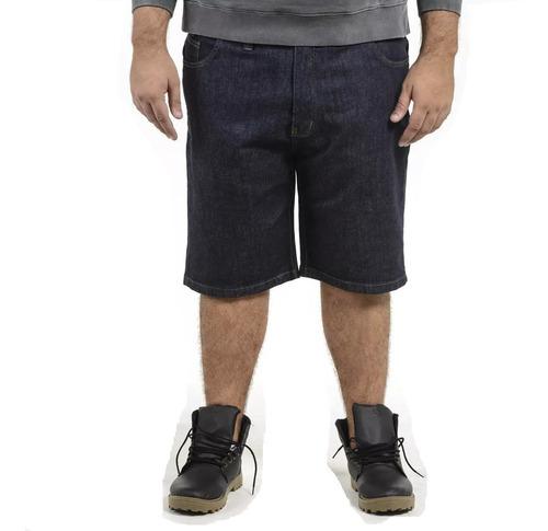 bermuda jeans com lycra masculina plus size até numero 64
