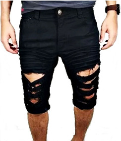 4f7c60e7e Bermuda Jeans Rasgada - Calçados, Roupas e Bolsas no Mercado Livre ...