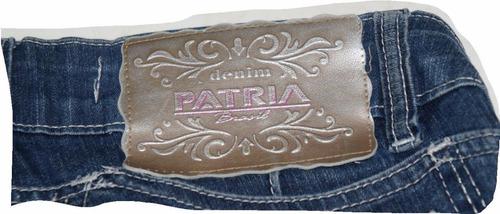 bermuda jeans feminina patria brasil denim - nº 36