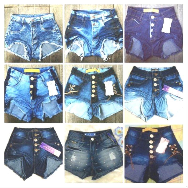 81b0d4203 Kit 15 Bermuda Short Jeans Feminino Cintura Alta Revenda - R  535
