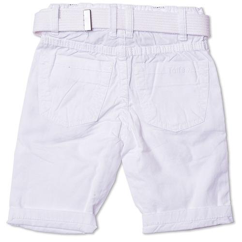 bermuda jeans infantil masculina branca tamanho 01 - toffee