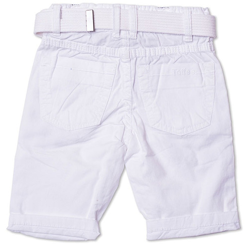 bermuda jeans infantil masculina branca tamanho 04 - toffee