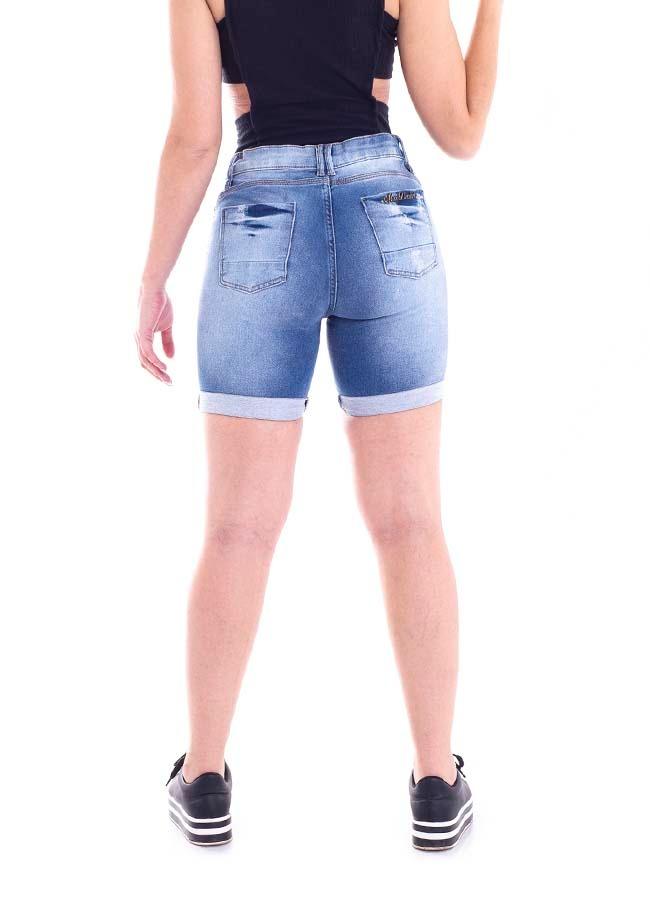 48363f44a067 bermuda jeans jogger max denim feminino azul claro 4584-15. Carregando zoom.